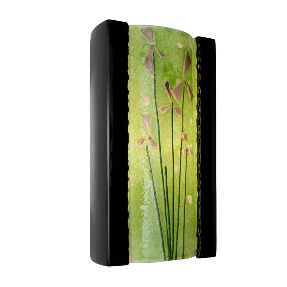 A19 Lighting- RE101-BG-MLM  - Meadow Wall Sconce Black Gloss and Multi Lime in Black Gloss and Multi Lime
