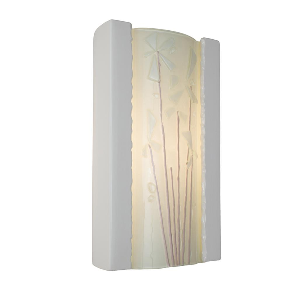 A19 Lighting- RE101-WG-WF  - Meadow Wall Sconce White Gloss and White Frost in White Gloss and White Frost