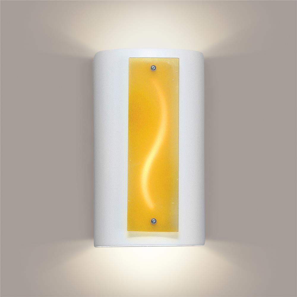 A19 Lighting- G3A - Amber Current Wall Sconce in White Satin