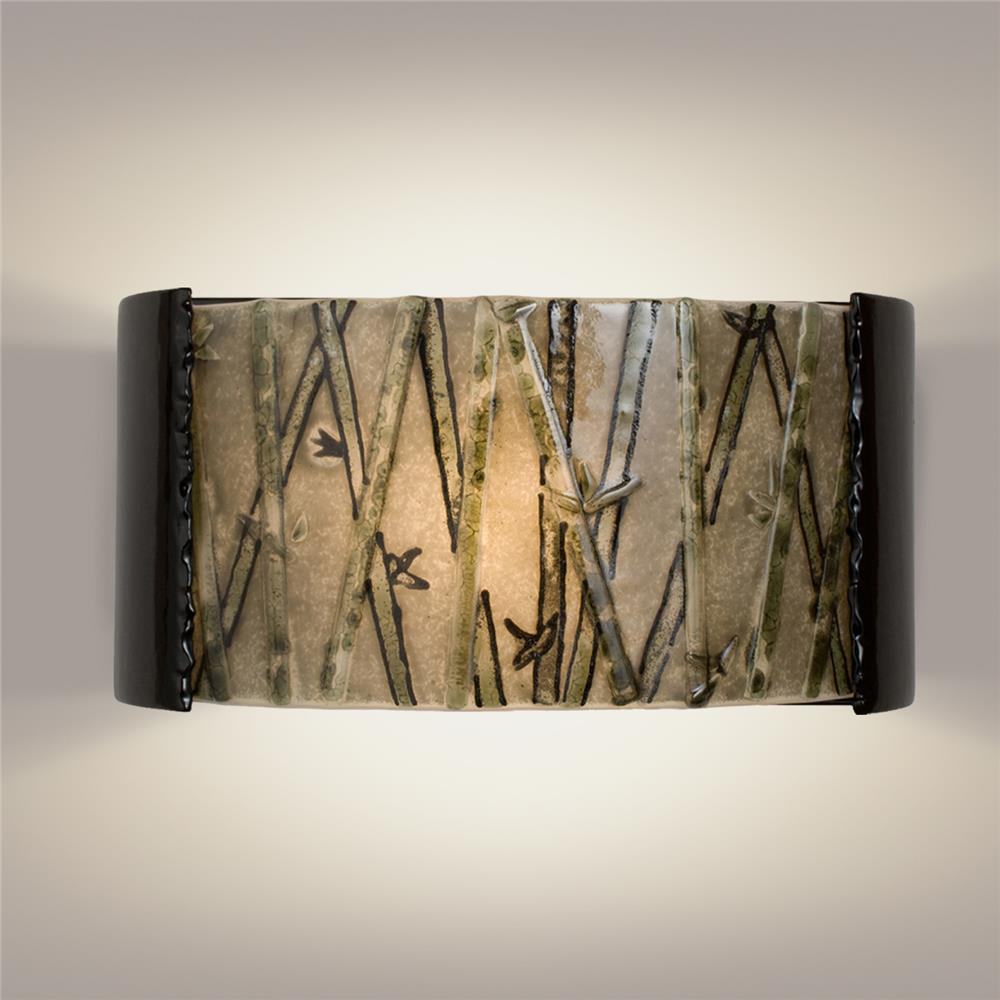 A19 Lighting- RE105-BG-MSW - Asia Wall Sconce Black Gloss and Multi Seaweed in Black Gloss and Multi Seaweed