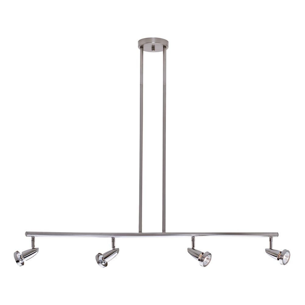 Access Lighting 52224-BS Mirage Semi-Flush or Pendant in Brushed Steel