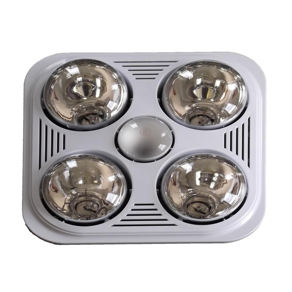 Bathroom Heater Light a515aw - aero pure fan- a515a w-2 bulb quiet bathroom heater fan