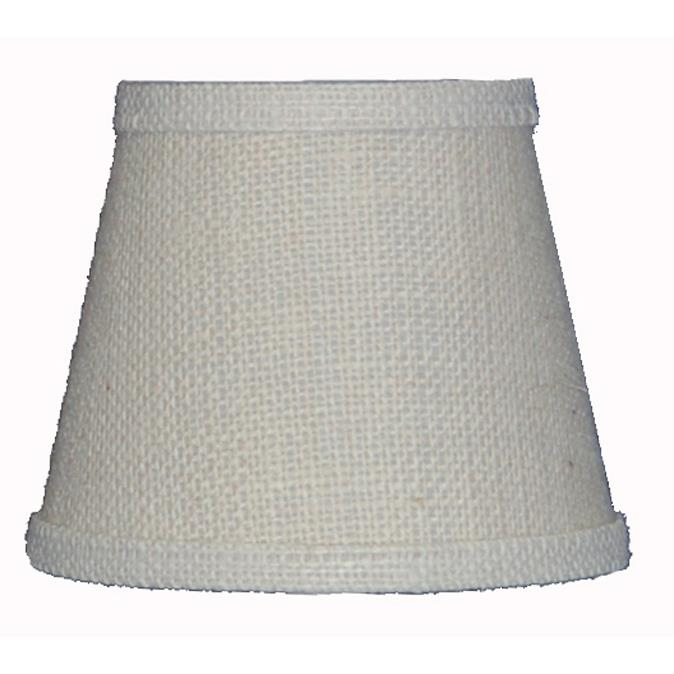 AHS Lighting SD0371-16WD White Burlap Hard back Lamp Shade Made in USA