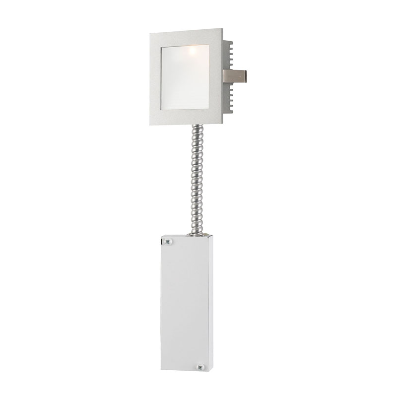 Alico WLE-101-RM Steplight LED Steplight - Wall Recessed Led W/ Retrofit Housing Opal Lens / Grey Trim.