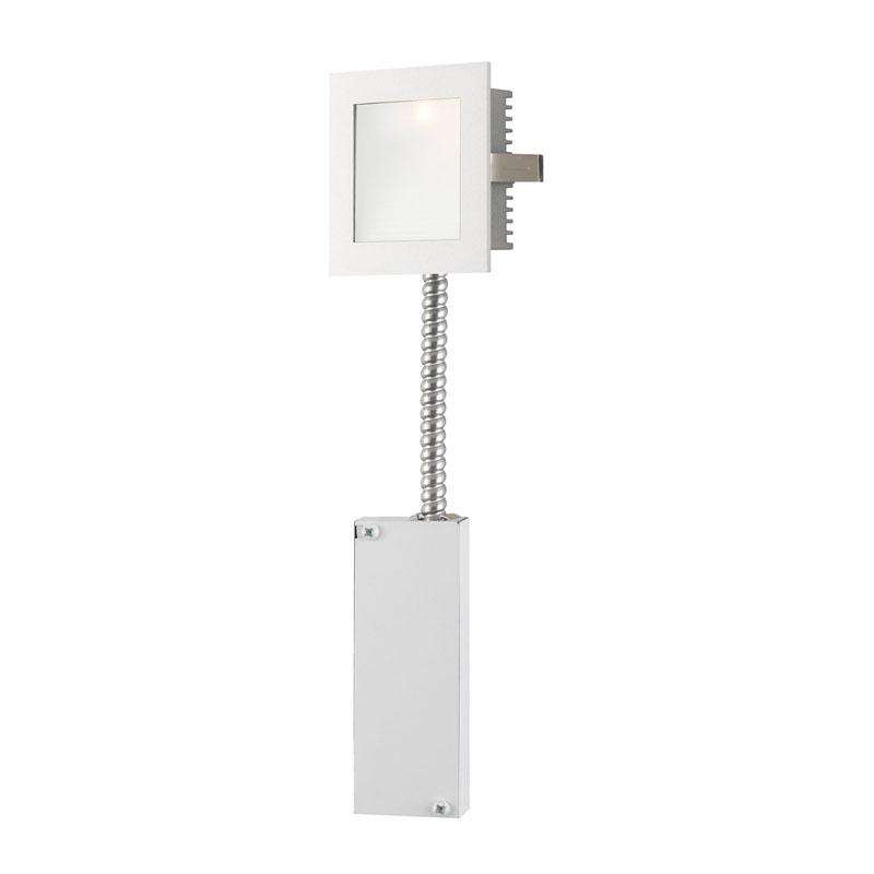Alico WLE-101W-RM Steplight LED Steplight - Wall Recessed Led W/ Retrofit Housing Opal Lens / White Trim.