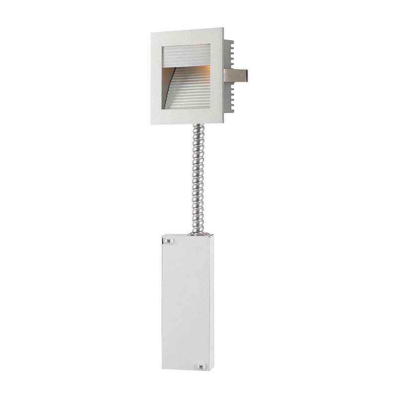 Alico WLE-102-RM Steplight LED Steplight - Wall Recessed Led W/ Retrofit Housing Grey Reflector / Grey Trim.