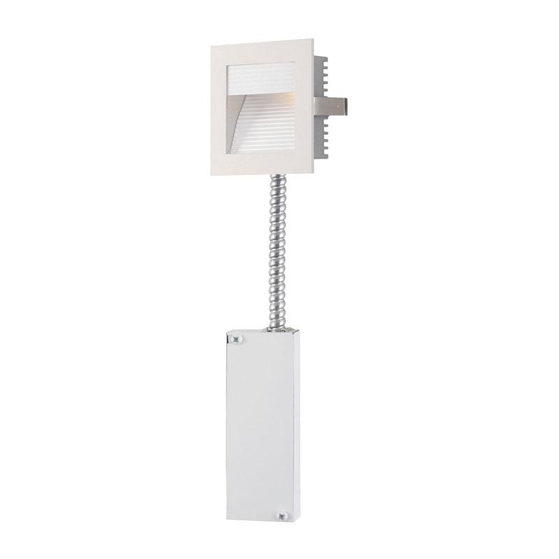 Alico WLE-102W-RM Steplight LED Step Lt - Main Wall Rec, Retrofit (Led) W/Driver & Lamp. Corr Fplate/Wht Trim