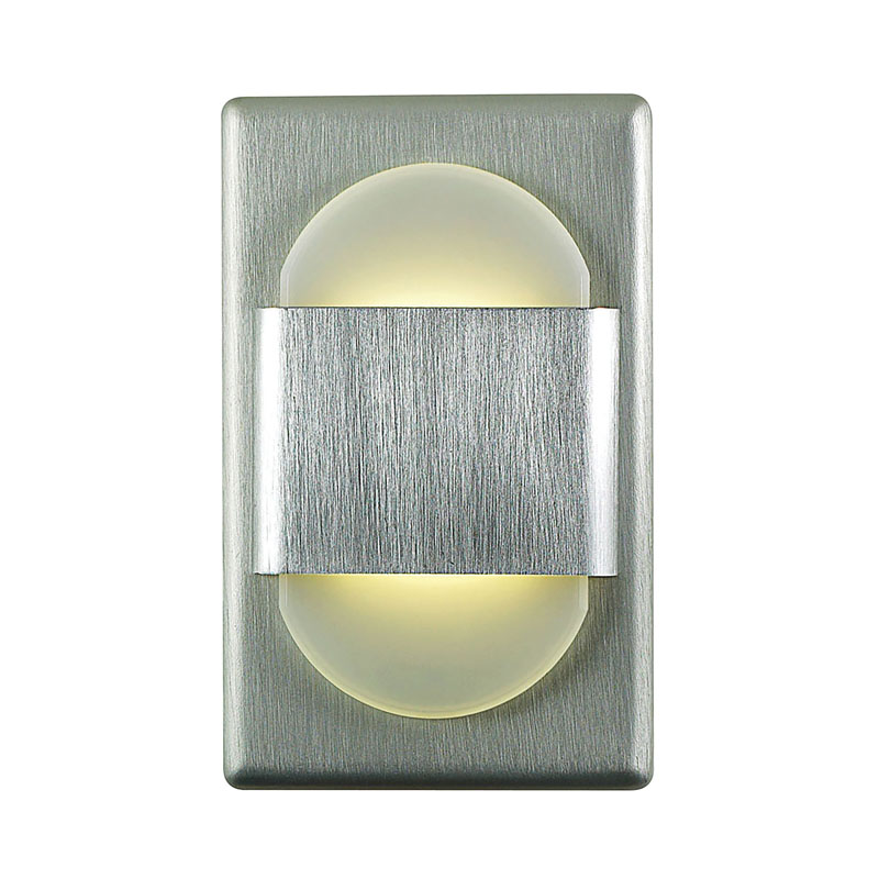 Alico WLE105DR32K-10-98 EZ Step LED Ez Step  Recessed Wall Light C/W Driver. White Opal Acrylic Diffuser / Brushed Aluminum Plate