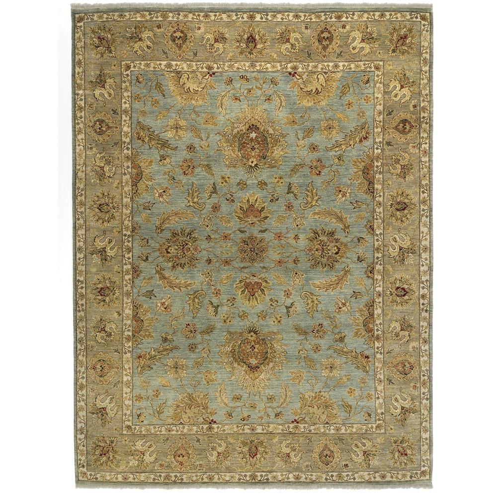 Amer Rugs ANQ50203 Antiquity Traditional Design Hand-Knotted Rug in Aqua