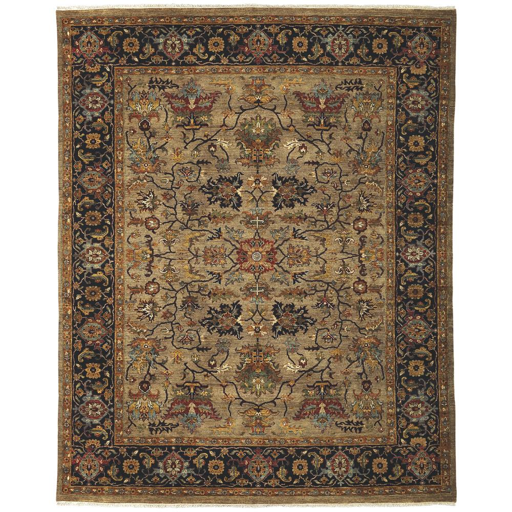 Amer Rugs ANQ80203 Antiquity Traditional Design Hand-Knotted Rug in Camel