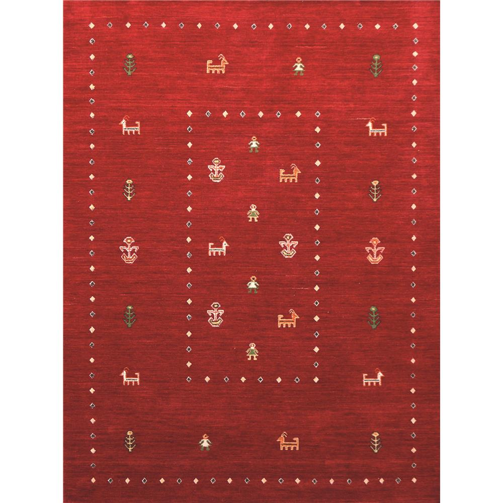 Amer Rugs NOM70203 Nomadic Traditional Design Hand-Woven Rug in Red