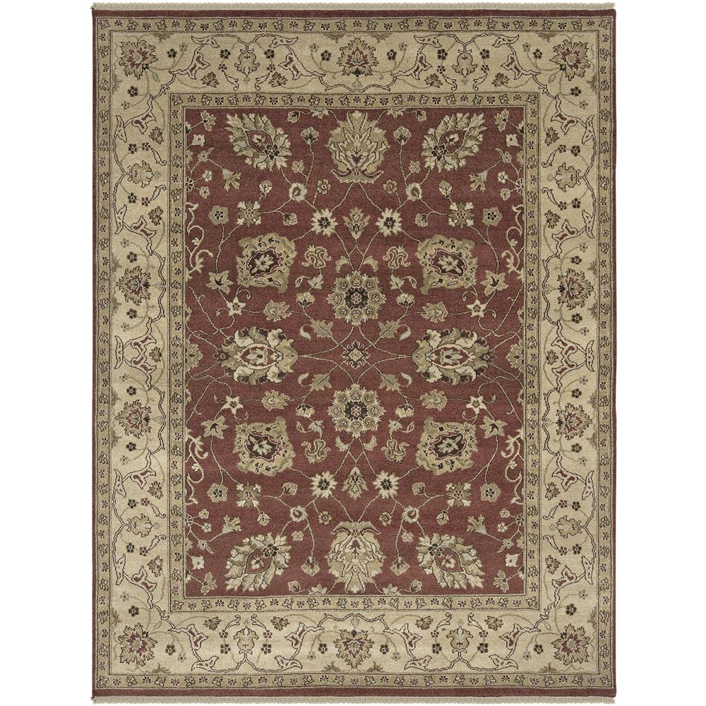 Amer Rugs RA30203 Oasis Traditional Design Hand-Knotted Rug in Rust