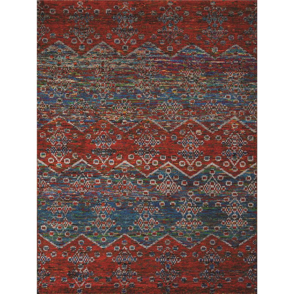 Amer Rugs SIL260203 Silkshine Modern Design Hand-Knotted Rug in Blue