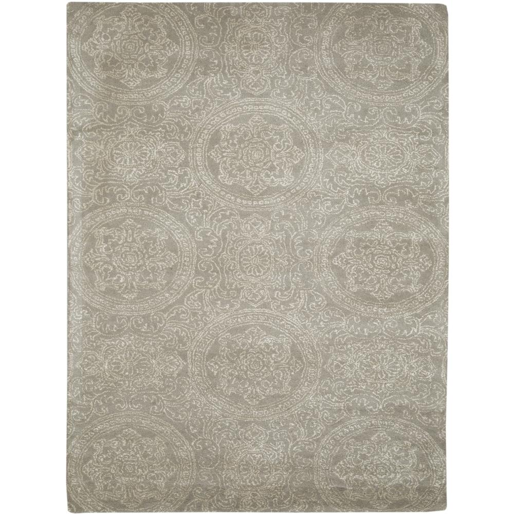 Amer Rugs SND34P0203 Serendipity Modern Design Hand-Tufted Rug in Platinum