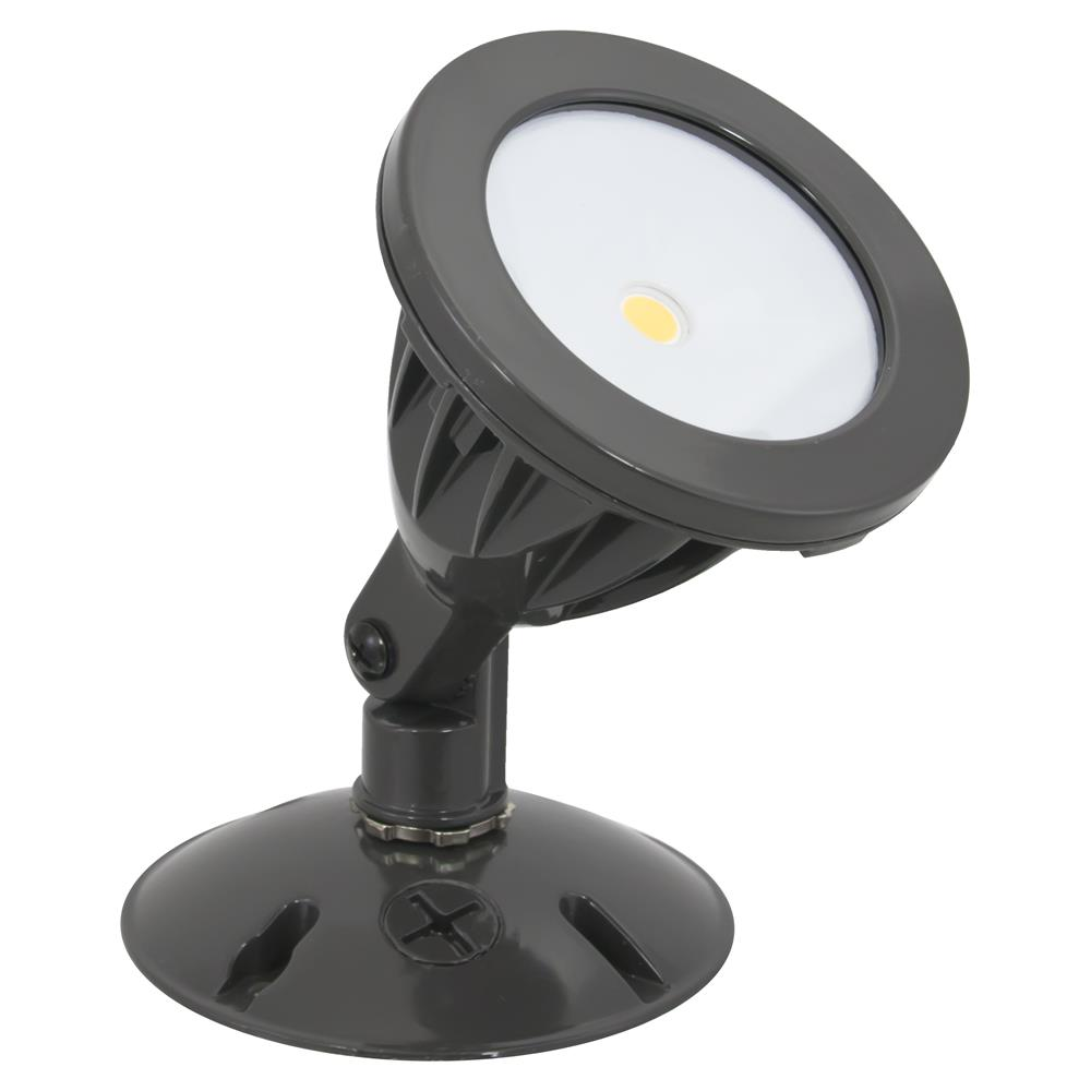 American Lighting Single Head COB Flood Light, 8.4 Watts, Dark Bronze Finish