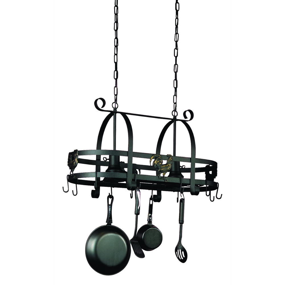 Artcraft AC1798EB Pot Racks Collection Island Light in Black
