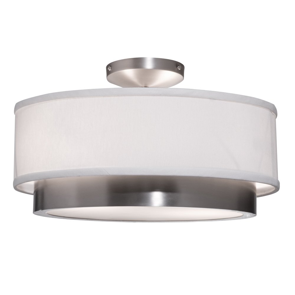 Artcraft Lighting SC785 Scandia 2 Light Semi Flush in Brushed Nickel