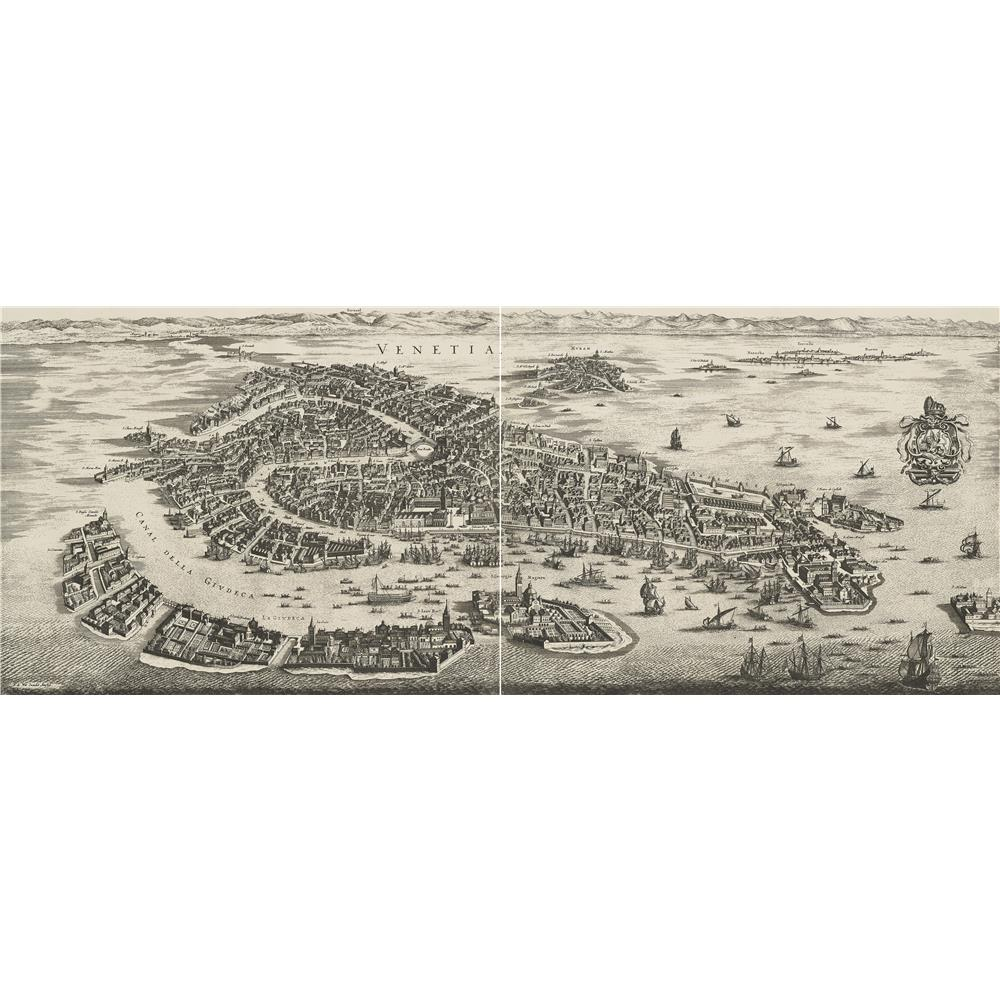 Authentic Models AC329 Venice wall Map 1694