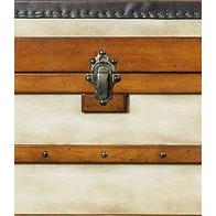 Authentic Models MF089 Polo Club Trunk, Small in Ivory, Pine/ Honey Distressed French Finish