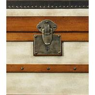 Authentic Models MF090 Polo Club Trunk, Large in Ivory, Pine/ Honey Distressed French Finish
