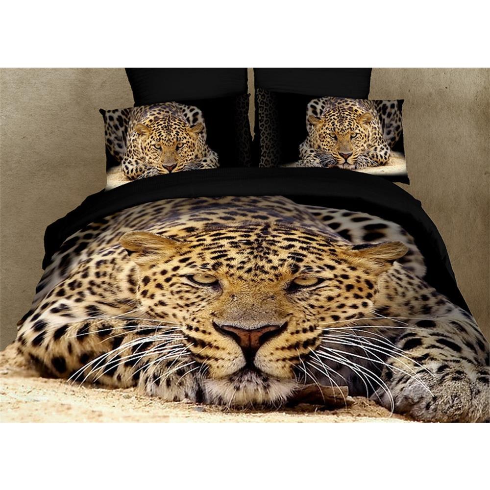 Dolce Mela DM400K King Size Duvet Cover Set, Ghepardo