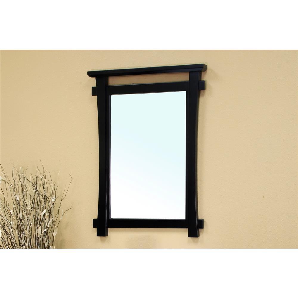 Bellaterra Home 203012-MIRROR Solid Wood Frame Mirror-Black