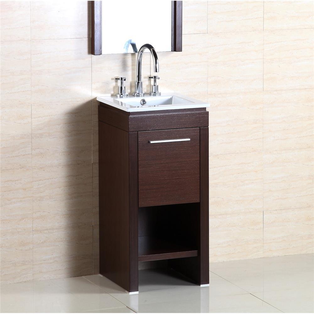 Bellaterra Home 500137 16-Inch Single Sink Vanity