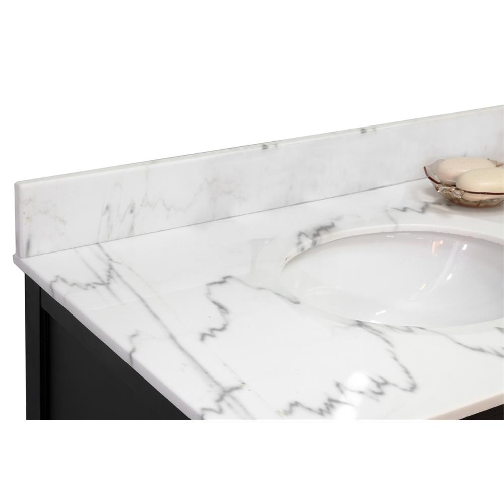 Bellaterra Home 600168-BACKSPLASH-36WM Backsplash-White Marble-36""