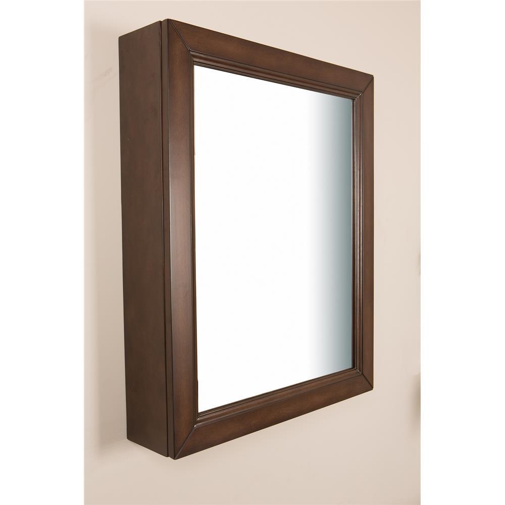 "Bellaterra Home 7611-MC-SW 24"" Mirror Cabinet-Wood-Sable Walnut"