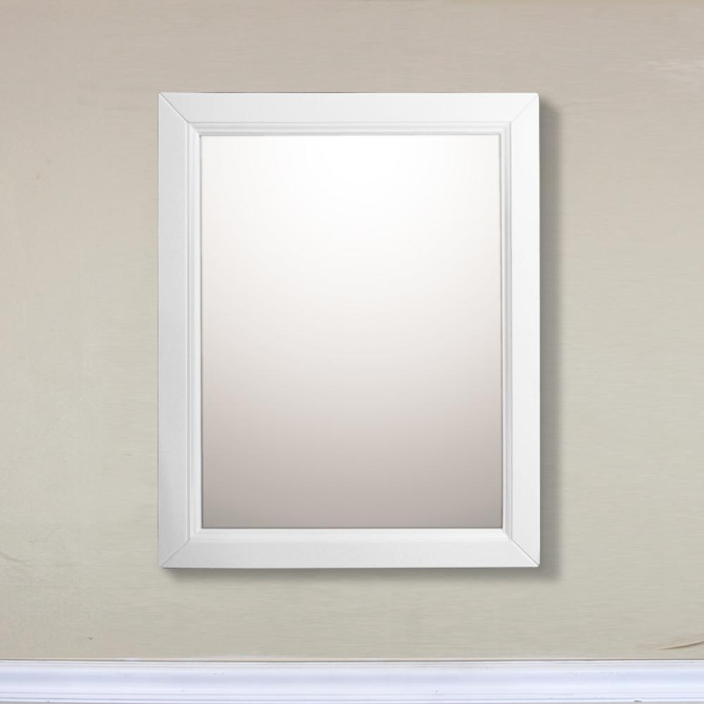 "Bellaterra Home 7611-MC-WH 24"" Mirror Cabinet-Wood-White"