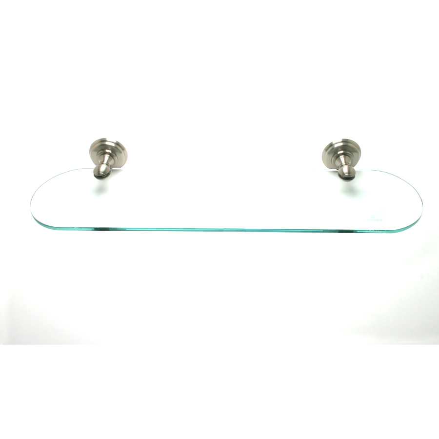 R. Christensen by Berenson Hardware 2125US15 Oval Glass Shelf Brushed Nickel