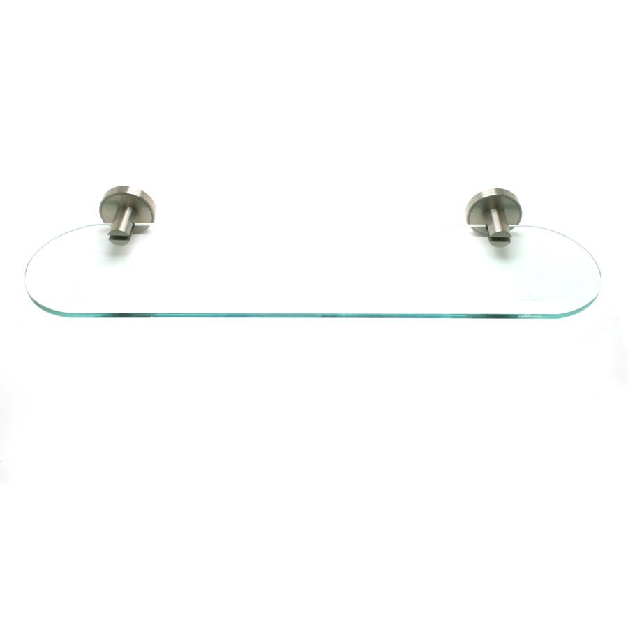 R. Christensen by Berenson Hardware 2225US15 Oval Glass Shelf Brushed Nickel