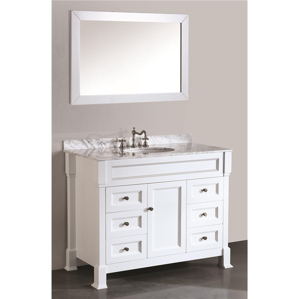 Bosconi SB-278WH Contemporary Single Vanity