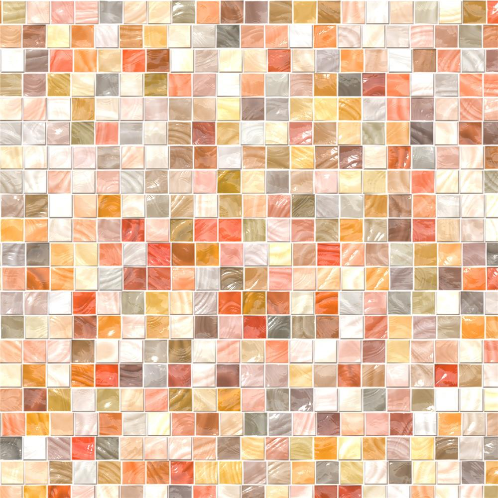 Home Decor Line by Brewster CR-31126 Pearl Mosaic Peel and Stick Tiles