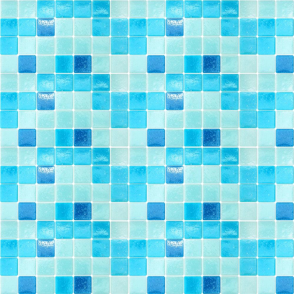 Home Decor Line by Brewster CR-31132 Home Decor Line Mosaic Light Blue Peel and Stick Tiles