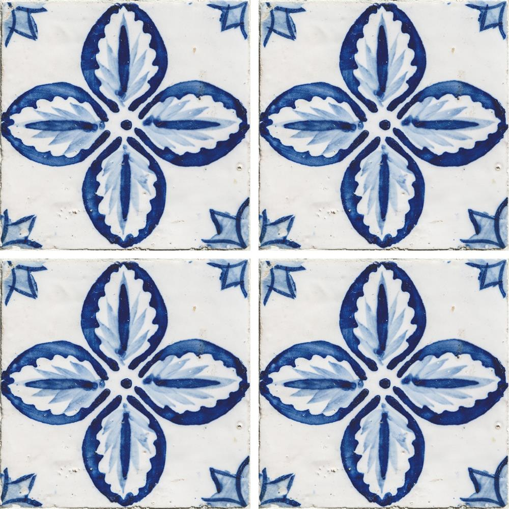 Home Decor Line by Brewster CR-31303 Home Decor Line Floral Peel and Stick Tiles