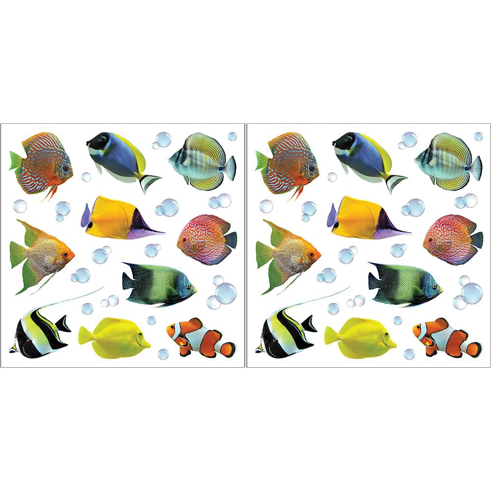 Home Decor Line by Brewster CR-54253 Home Decor Line Fishes Wall Decals