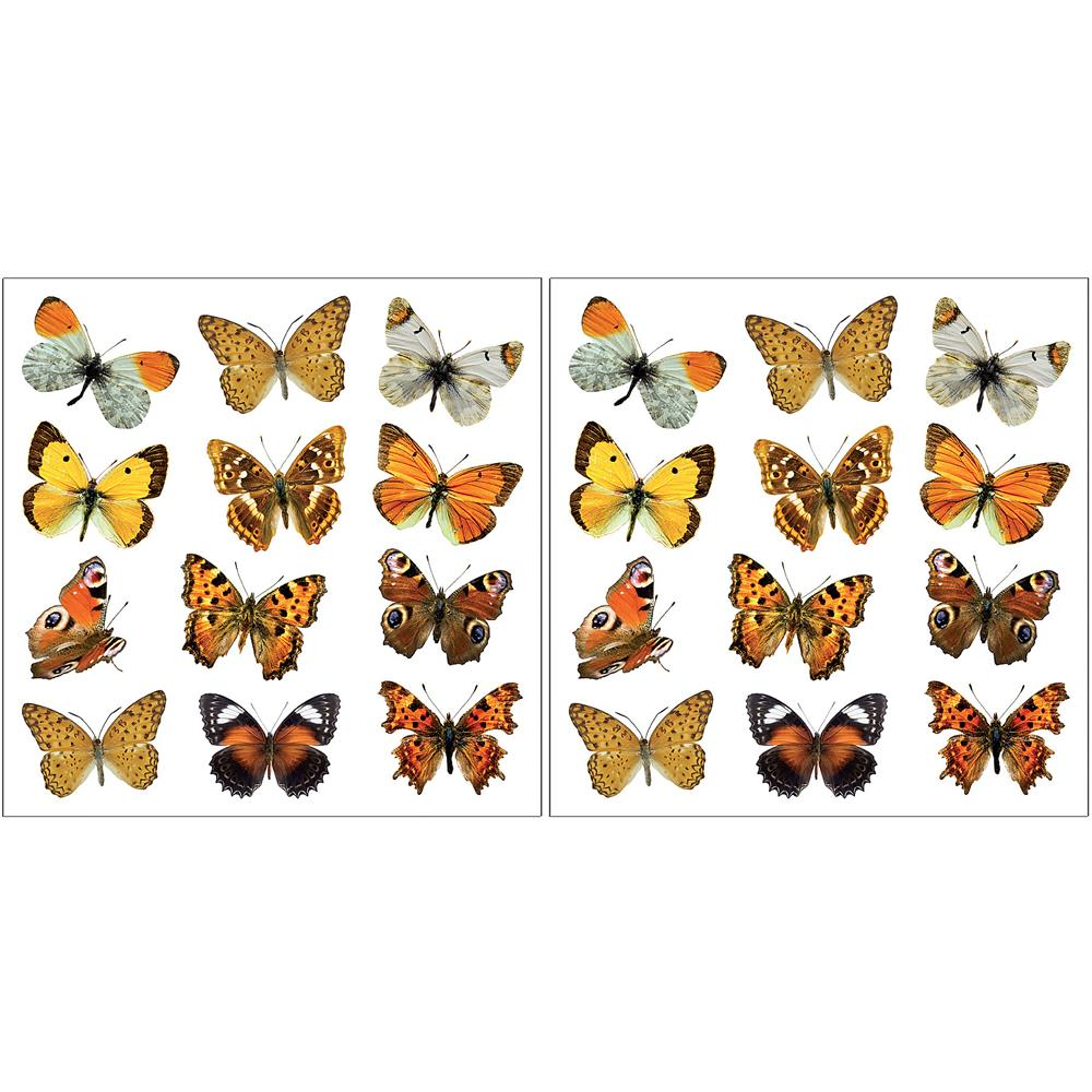 Home Decor Line by Brewster CR-54453 Home Decor Line Colorful Butterflies Wall Decals