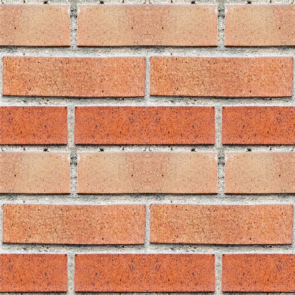 Home Decor Line by Brewster CR-54708 Red Bricks Peel and Stick Foam Tiles