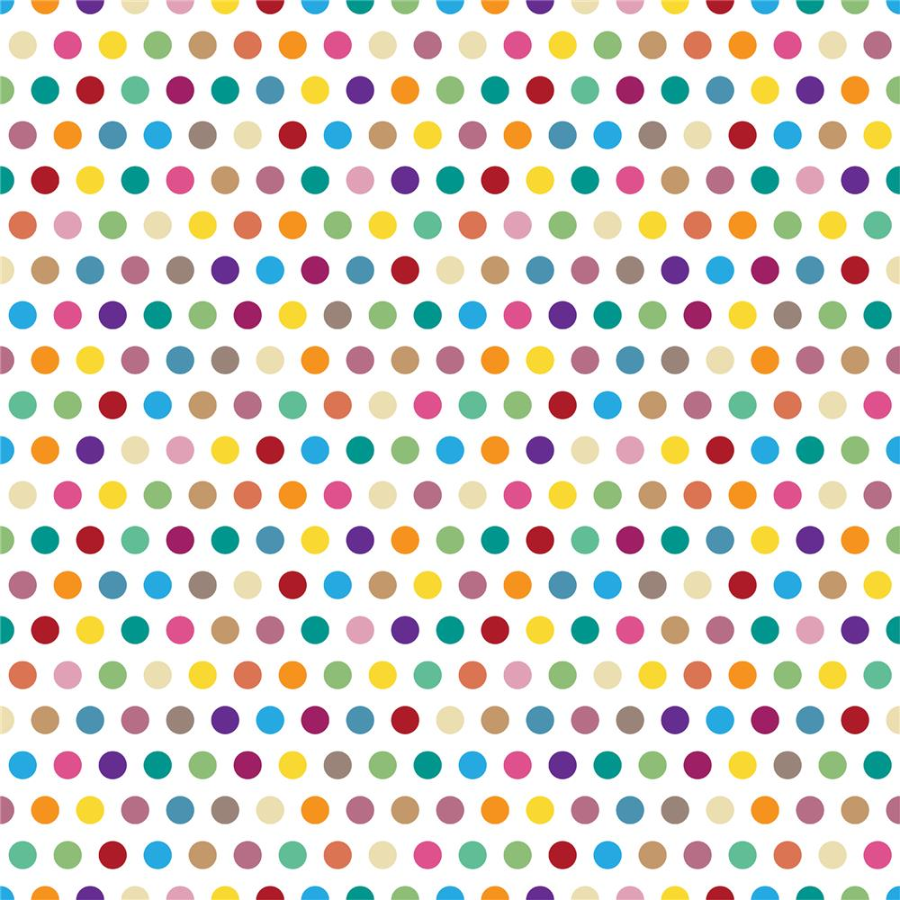 Home Decor Line by Brewster CR-54713 Colorful Pois Peel and Stick Foam Tiles