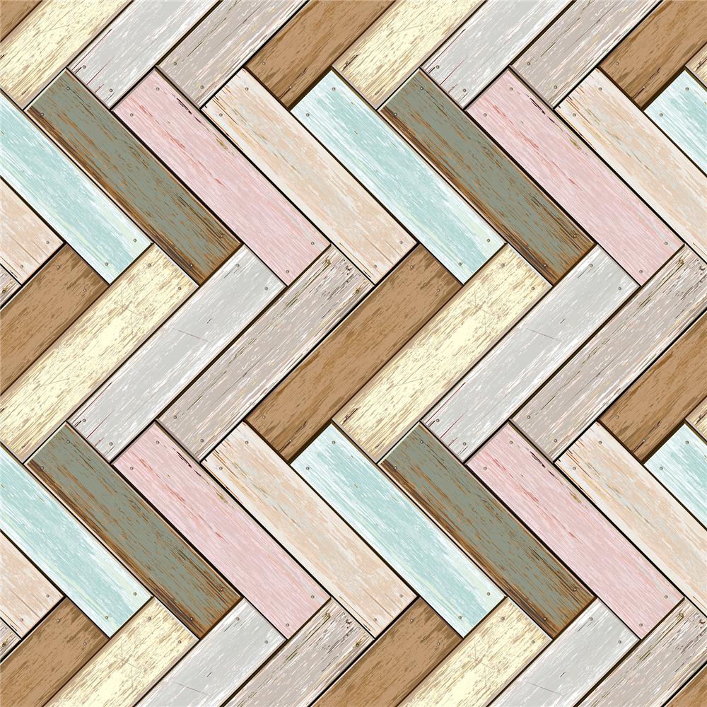 Home Decor Line by Brewster CR-54719 Wood Peel and Stick Foam Tiles