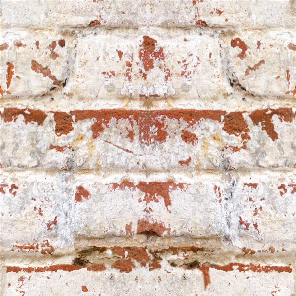 Home Decor Line by Brewster CR-54725 Home Decor Line Old Bricks Peel and Stick Foam Tiles