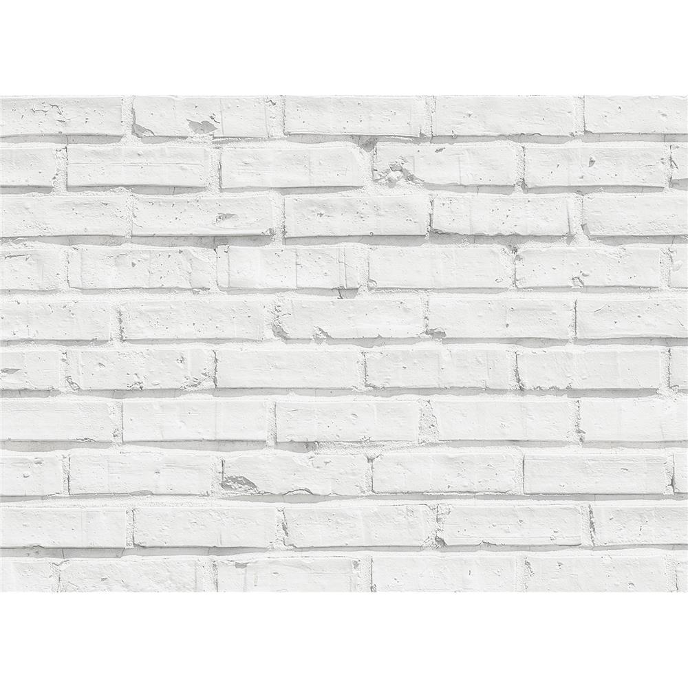 Home Decor Line by Brewster CR-67214 White Bricks Kitchen Panel Decal