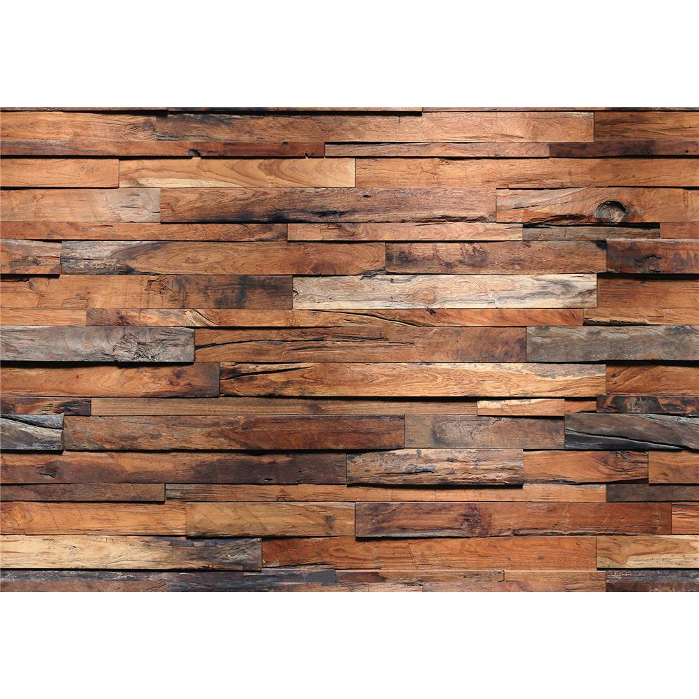 Ideal Décor by Brewster DM150 Reclaimed Wood Wall Mural