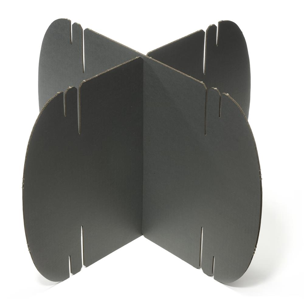 Brewster by Brewster NAS-03 Dark Grey Modern Room Divider