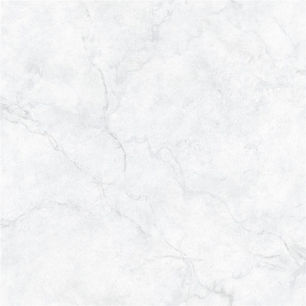 NuWallpaper by Brewster NU2090 Carrara Marble Peel and Stick Wallpaper
