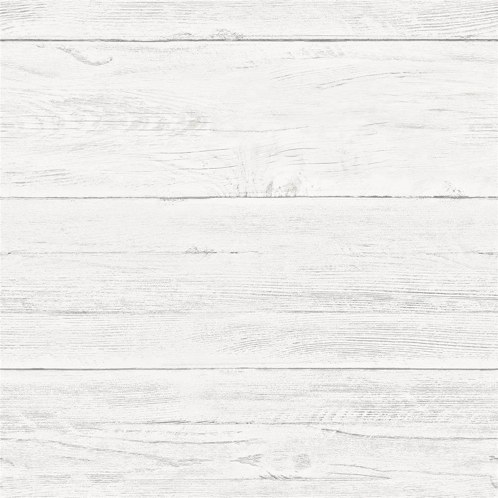 NuWallpaper by Brewster NU2187 Shiplap Peel and Stick Wallpaper