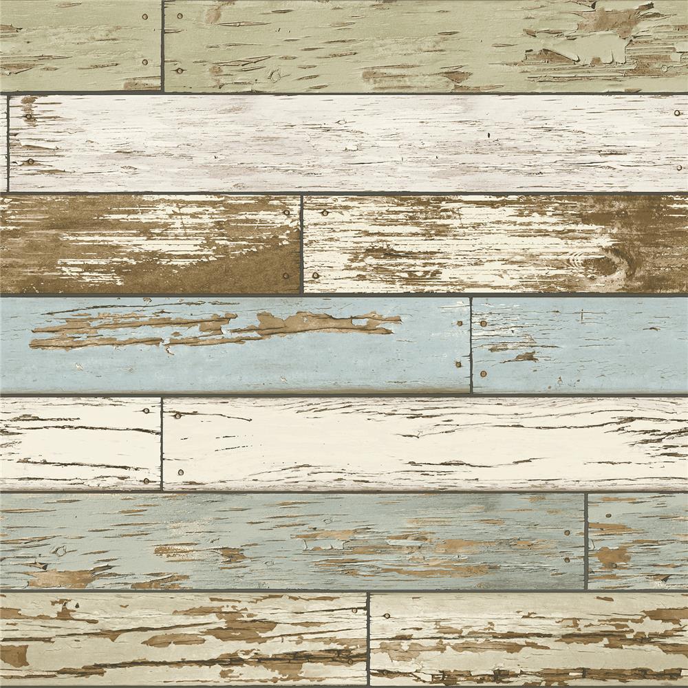 NuWallpaper by Brewster NU2188 Old Salem Vintage Wood Peel and Stick Wallpaper