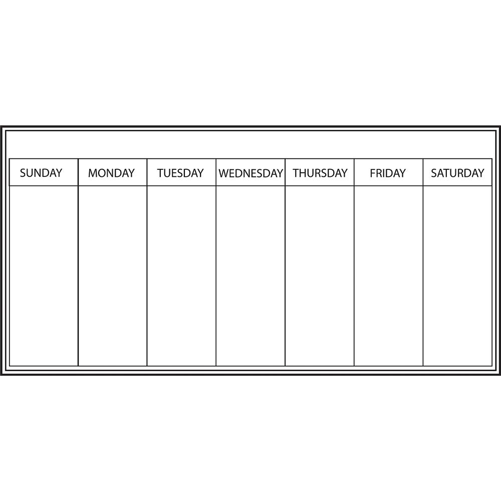 WallPops by Brewster WPE98895 Dry Erase Whiteboard Weekly Calendar Decal