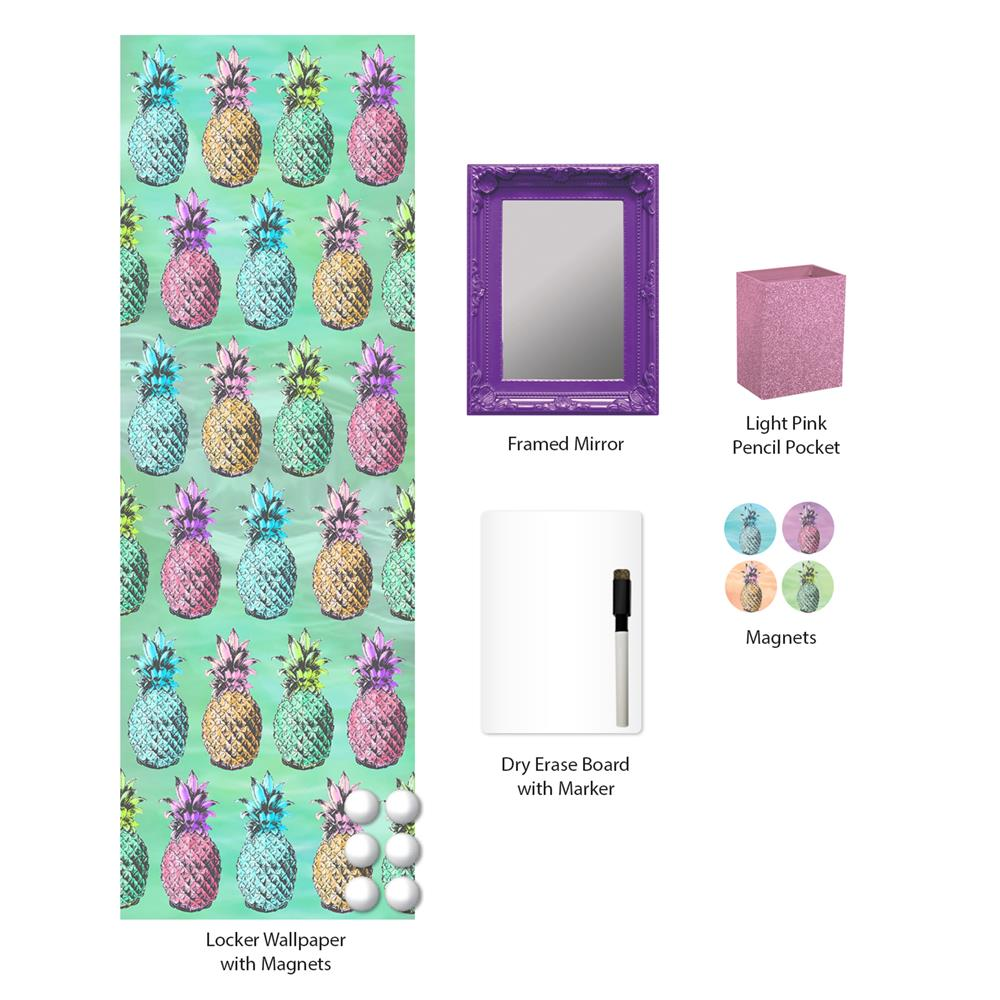 WallPops by Brewster WPL2298 Pineapple Isle Locker Kit